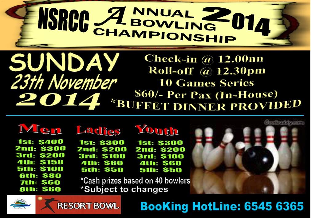 Nsrcc S Annual Club Bowling Championship 2014 National